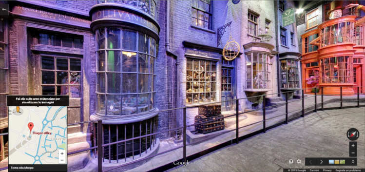 Diagon Alley da Google Maps