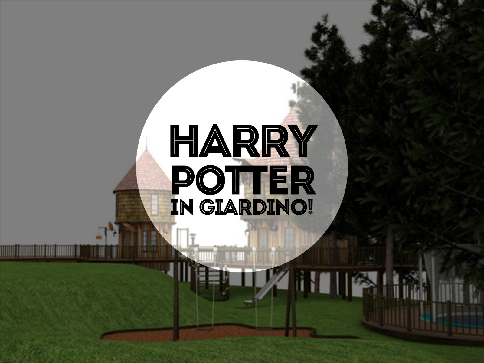 Harry Potter in giardino